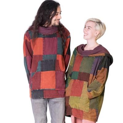 Camisa unisex patchwork KTNE1904