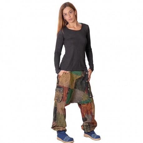 Pantalon patchwork TRM1906