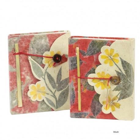 Libreta artesanal flores NB50NE