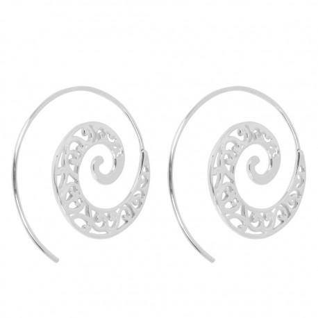 Pendientes plata espiral PEP644TH