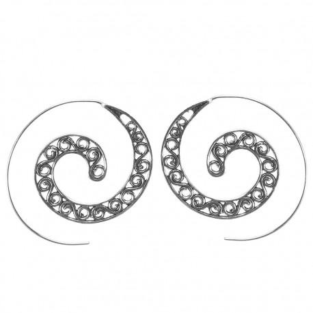 Pendientes etnicos espiral PE681IN