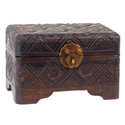 Cofre madera tallada BX41BA