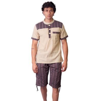 Pantalon corto hippie rayas TRM2003