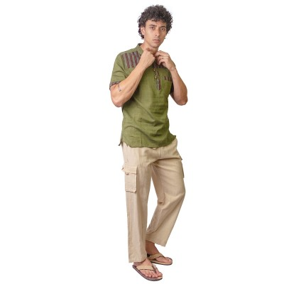 Pantalon hippie hombre liso TRM2005