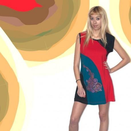 Vestido corto hippie DRNE1301