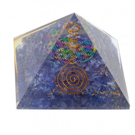 Piramide orgonita cuarzo y lapis RK02IN
