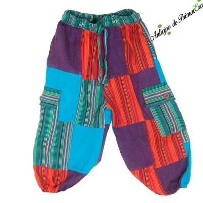 Pantalon patchwork niños KDNE2104