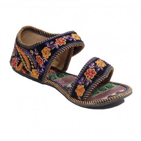 Sandalia zapato etnico bordado