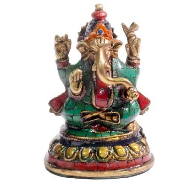 Ganesh bronce con piedras
