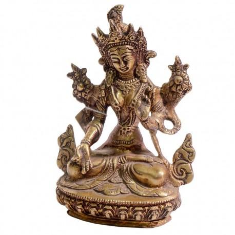 Figura de bronce Tara