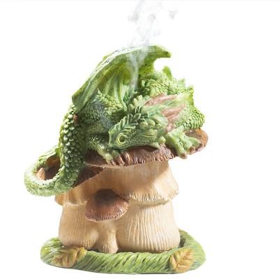 Quemador de incienso Dragon Verde