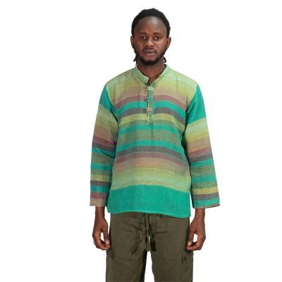 Camisa hippie rayas