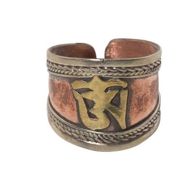 Anillo de cobre Om Tibetano