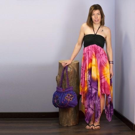 Vestido hippie multicolor DRIN1404
