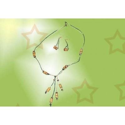 Collar artesanal bambu CJ10CO