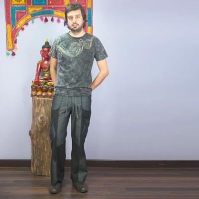 Pantalon hippie vaquero TRM1504