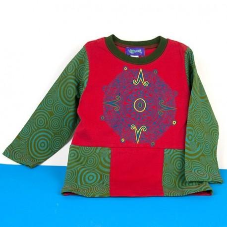 Camiseta hippie niños KDNE1530
