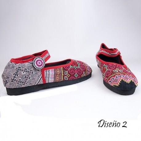 Zapato bordado Hmong 53