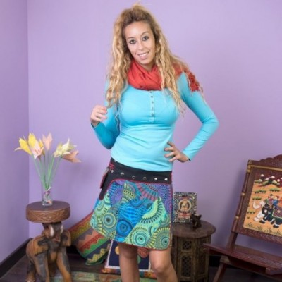 Falda Hippie Pareo SKNE1612