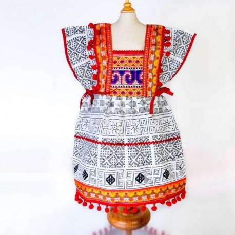Vestido etnico infantil KDTH1701