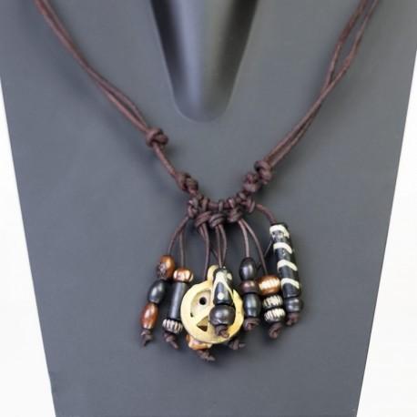 Collar Cuero Hippie CL117IN