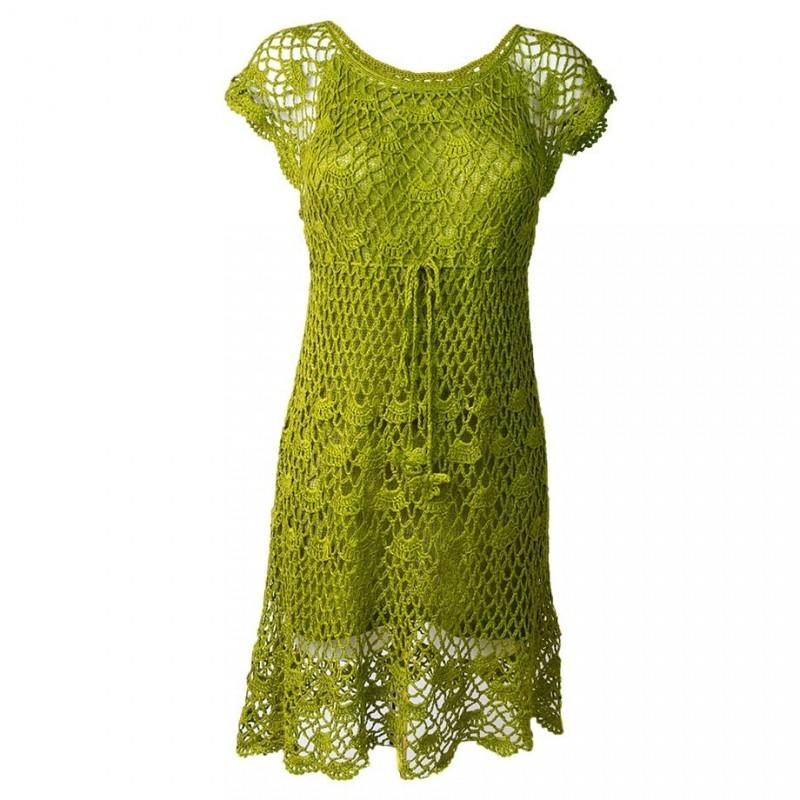 Vestido De Crochet Tejido A Mano Drth1701