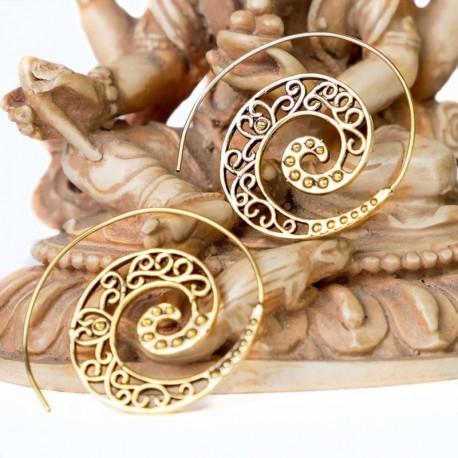 Pendientes laton espiral PE395IN