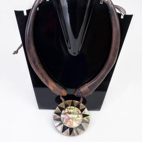 Collar etnico Madera CL139BA