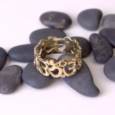Anillo Om Labrado AN122IN