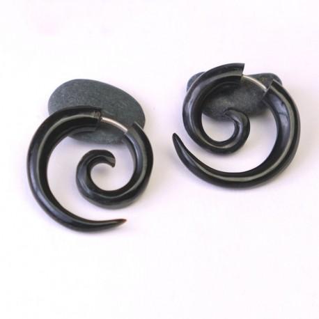 Pendiente Espiral Cuerno PE445BA
