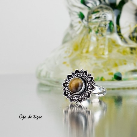 Anillo Flor con Piedra AN96IN