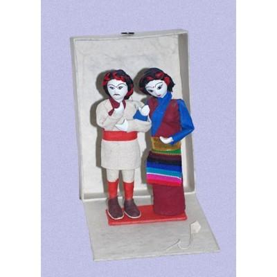 Pareja tibetana