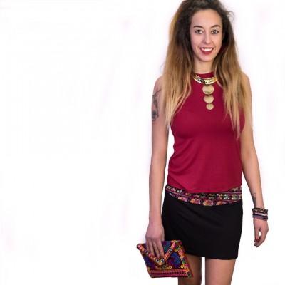 Minifalda etnica SKIN1803