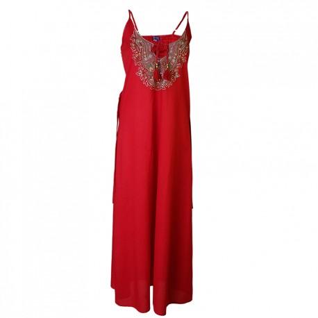 Vestido largo bordado DRIN1810