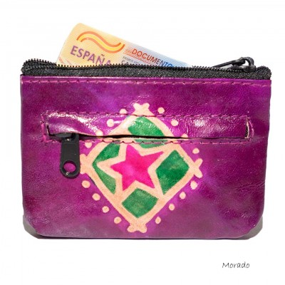 Monedero piel hippie MO79IN