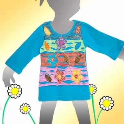 Vestido infantil hippie KDNE1128
