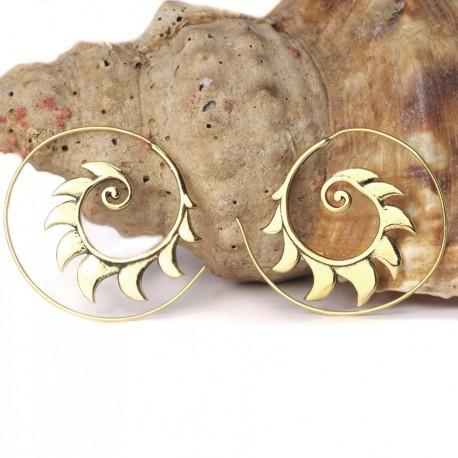 Pendientes espiral laton PE549