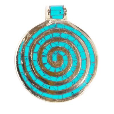 Colgante tibetano espiral CO97NE