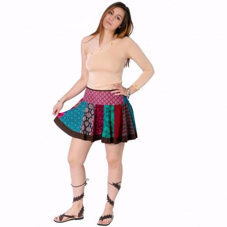 Falda patchwork SKIN1907