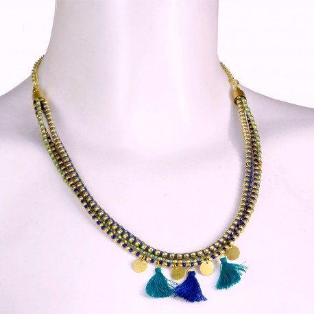 Collar etnico borlas CL152IN